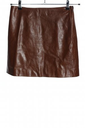 Michael Kors Leather Skirt brown casual look