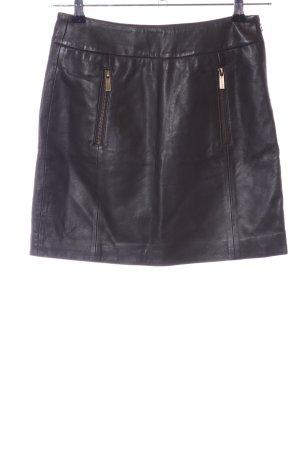 Michael Kors Jupe en cuir noir style décontracté