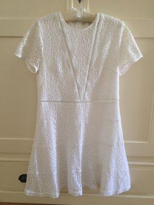 Michael Kors Leichtes Sommerkleid in weiß mit zarter Spitze, Gr. 10 (38) - kaum getragen