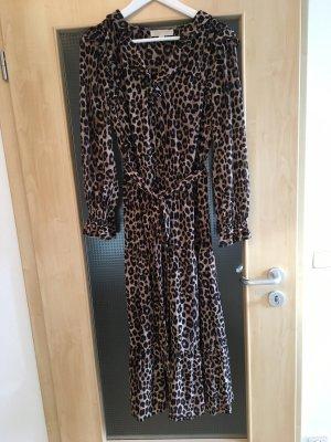 Michael Kors Maxi abito nero-marrone chiaro