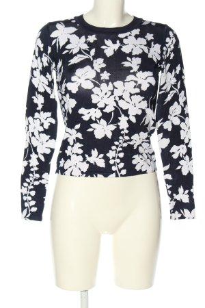 Michael Kors Longsleeve schwarz-weiß Blumenmuster Casual-Look