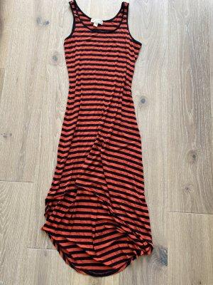 Michael Kors Maritim Streifen Jersey Kleid Orange Blau Gr. M