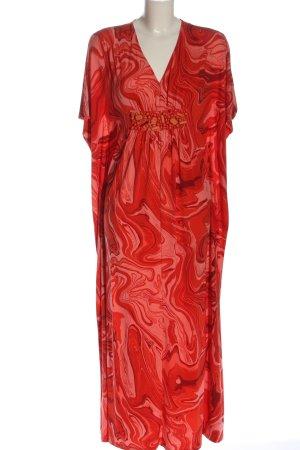 Michael Kors Vestido largo rojo-rosa estampado con diseño abstracto look casual