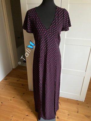 Michael Kors MaxiKleid lang  Schwarz Pink gepunktet  M 38 8
