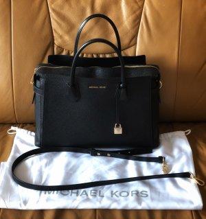 Michael Kors Handbag black-gold-colored leather