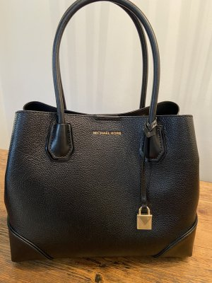 Michael Kors Mercer Gallery Medium Center Zip Tote Bag Black