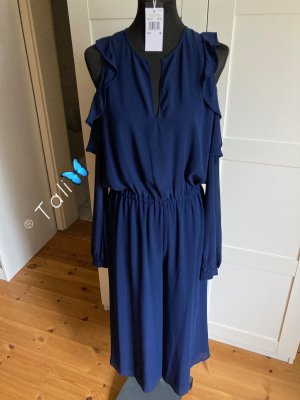 Michael Kors Midi Jumpsuit Overall Off Shoulder  Navy Blau M 38 8