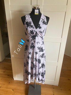 Michael Kors Midi Kleid  Flieder Lavendel Schwarz Floral  M 38 10