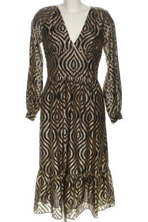 Michael Kors Midi-jurk goud-bruin volledige print elegant
