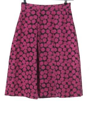 Michael Kors Midirock schwarz-pink Blumenmuster Casual-Look