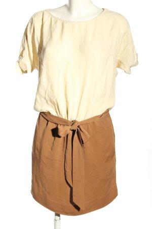 Michael Kors Mini vestido marrón-blanco puro estilo «business»