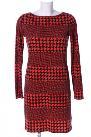 Michael Kors Minikleid rot-schwarz grafisches Muster Business-Look