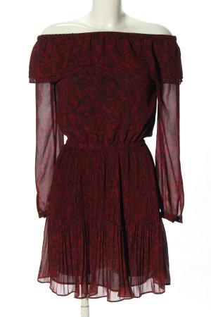 Michael Kors Minikleid rot-schwarz abstraktes Muster Casual-Look