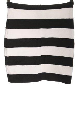 Michael Kors Minirock schwarz-weiß Streifenmuster Casual-Look