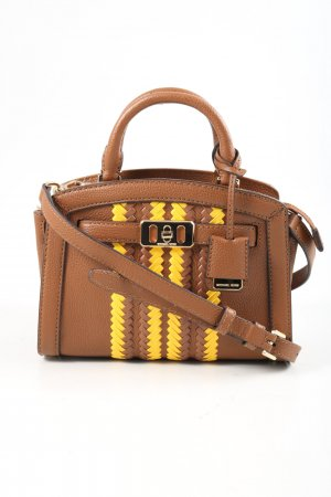 Michael Kors Minitasche braun-blassgelb Business-Look
