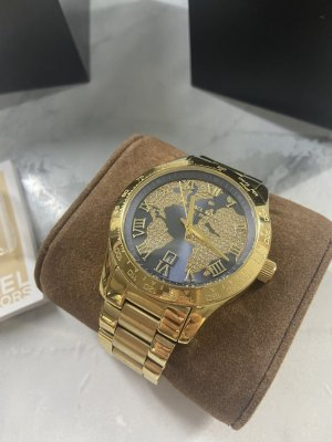 Michael Kors Watch With Metal Strap gold-colored-blue