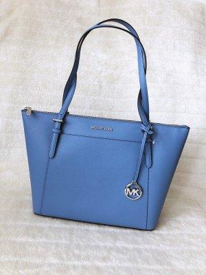 Michael Kors MK *Ciara LG TZ Tote* große Tasche Handtasche Tragetasche Shopper babyblau Leder