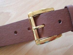 Michael Kors Leather Belt gold-colored-light brown