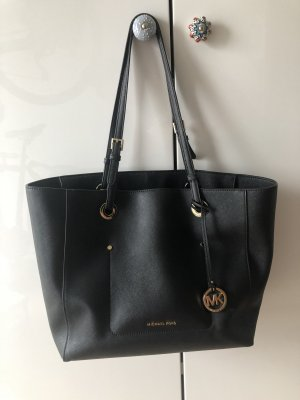 Michael Kors MK Tote Bag Shopper schwarz Gold