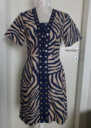 Michael Kors MK Zebramuster Leinen Kleid