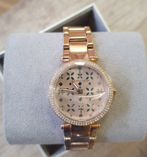 michael kors mk6470 mini parker damenuhr armbanduhr rosè gold zirkon neu Edelstahl