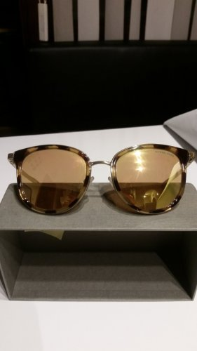 Michael Kors Ovale zonnebril goud-lichtbruin
