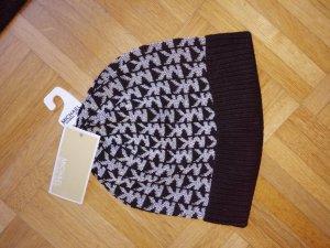 Michael Kors Sombrero de punto negro-color plata