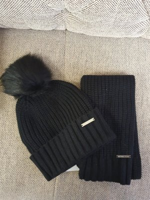 Michael Kors mütze Schal set neu schwarz silber