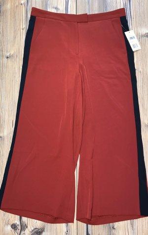Michael Kors Pantalone culotte nero-rosso scuro