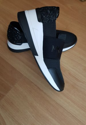 Michael Kors Sneaker slip-on nero-bianco Tessuto misto