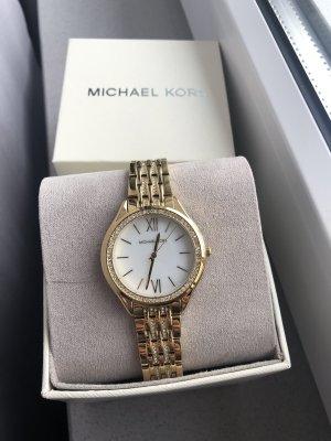 Michael Kors Zegarek z metalowym paskiem złoto-srebrny