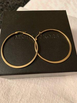 Michael Kors Pendientes tipo aro color oro