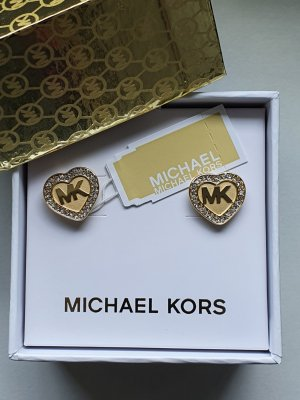 Michael Kors Clou d'oreille doré métal
