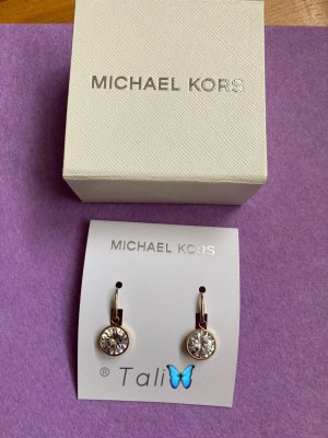 Michael Kors Ohrringe Ohrhänger  Gold mit weissem Stein