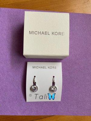 Michael Kors Ohrringe Ohrhänger  Silber mit weissem Stein