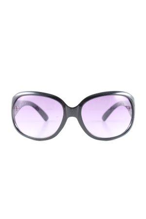 Michael Kors ovale Sonnenbrille schwarz Casual-Look