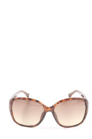 Michael Kors ovale Sonnenbrille braun-bronzefarben Animalmuster Casual-Look