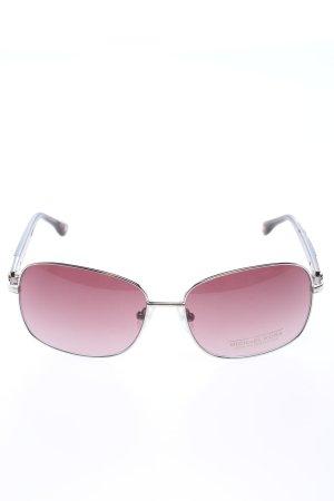 Michael Kors Gafas de sol ovaladas lila-color plata look casual