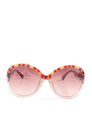 Michael Kors Oval Sunglasses light orange allover print casual look