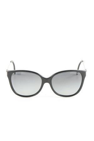 Michael Kors Ovale zonnebril zwart-zilver casual uitstraling