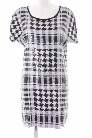 Michael Kors Cekinowa sukienka czarny-biały Poliester