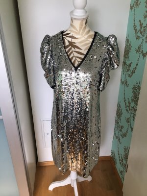 Michael Kors Sequin Dress silver-colored