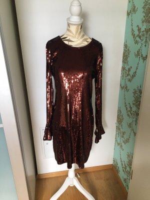 Michael Kors Sequin Dress cognac-coloured-bronze-colored