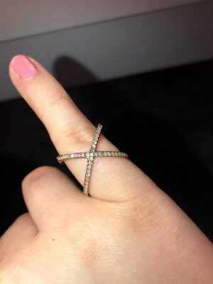 Michael Kors Pave X Ring Gold Nesting-Ring