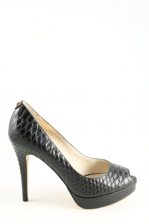 Michael Kors Peeptoe Pumps schwarz Animalmuster Party-Look