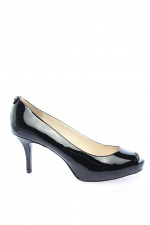 Michael Kors Peeptoe Pumps schwarz Business-Look