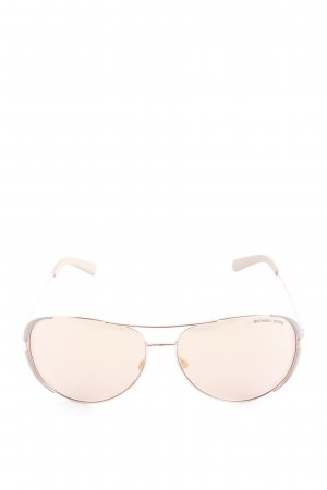Michael Kors Aviator Glasses cream casual look