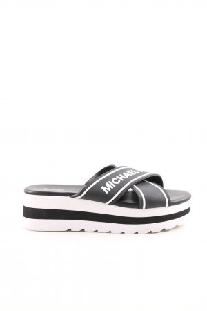 "Michael Kors Sandalo con plateau ""Demi Sport Sandal Black/Optic White"""