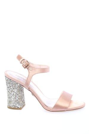 Michael Kors Plateau-Sandaletten pink-silberfarben Elegant