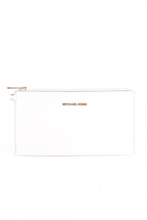 Michael Kors Bolso tipo pochette blanco-color oro look casual